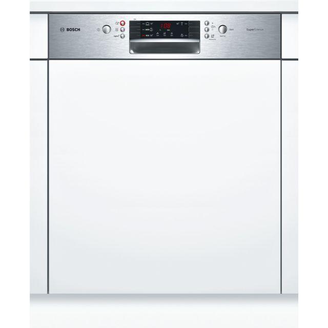 Bosch lave-vaisselle 60cm 13c 44db a+++ intégrable avec bandeau inox - smi45is04e