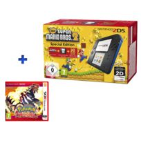 NINTENDO - 2ds noir + bleu + news super mario bros + Pokemon rubis omega