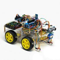 Tbs - 2654 bluetooth, Kit de montage complet Arduino Voiture Robot 4WD intelligente avec détecteurs d'obstacles à ultrason et infrarouge - Kit d'apprentissage Dyi programmable - 4WD Arduino Smart Car Robot Learning Starter Kit Smart Programmable Robo