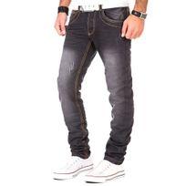 Justing - Jean effet usé tendance Jean 2018 noir