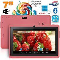 Tablette 7 pouces bluetooth Quad Core Android 5.1 Lollipop 16Go Violet