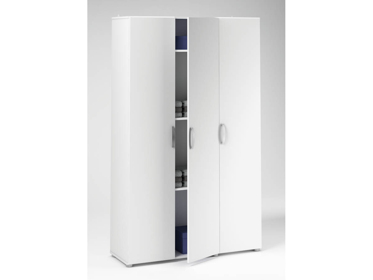 Armoire Cobi - 101,4 x 34 x 175 cm - Blanc