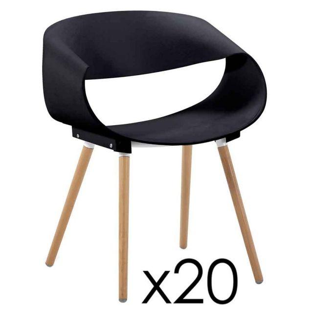 Paris Prix Lot de 20 Chaises Design Bois \