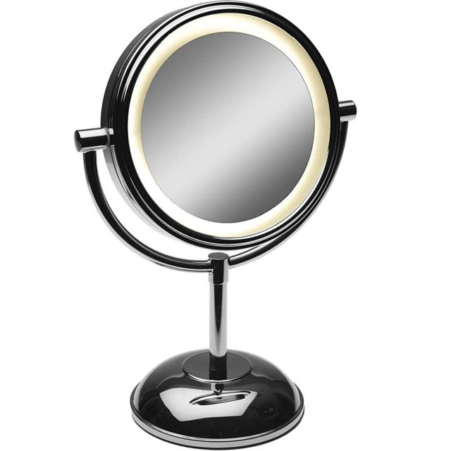 VERSA Miroir à poser en métal avec led
