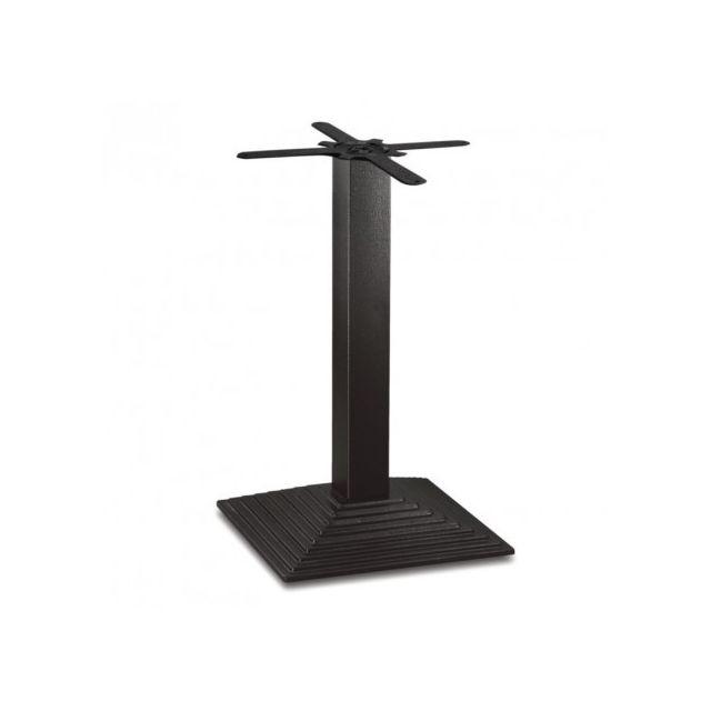 Materiel Chr Pro Pied de table carré effet escalier en fonte Bolero jusqu'à 800 mm