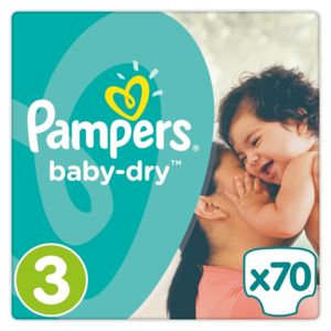 Pampers baby dry couches taille 3 midi 5 9kg 70 for Pampers couche piscine