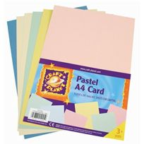 Craft Planet - A4 Card Pastels 6 Pack