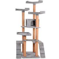 Leopet - Arbre à chat de hauteur moyenne avec grande niche douillette - 9colori