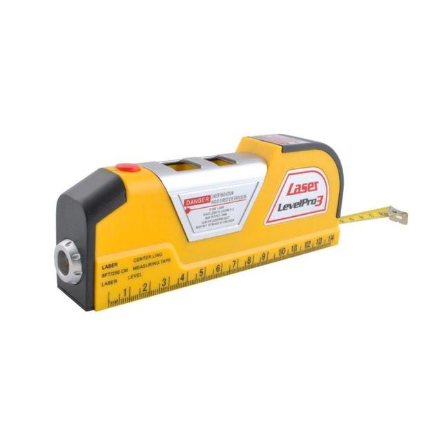 MALATEC - Niveau laser avec mètre ruban Jaune