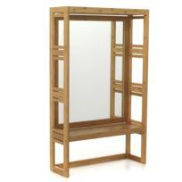 Alinéa - Danong Miroir rectangulaire de salle de bains en bambou H100cm