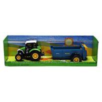 Mondo Motors - 61004BENNE - Lindner - Tracteur Avec Remorque Benne Bleu - ÉCHELLE 1/43