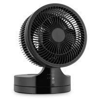 Klarstein - Touchstream Ventilateur de table silencieux Ø 25cm 3 vitesses -noir