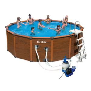Intex piscine s quoia spirit 5 08 x 1 24 m pas cher for Piscine hors sol sequoia spirit intex