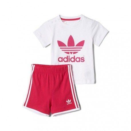 2e9b507a09910 Adidas - I TEE SHORT SET ROS - Ensemble Bébé Fille - pas cher Achat   Vente  Tee shirt homme - RueDuCommerce
