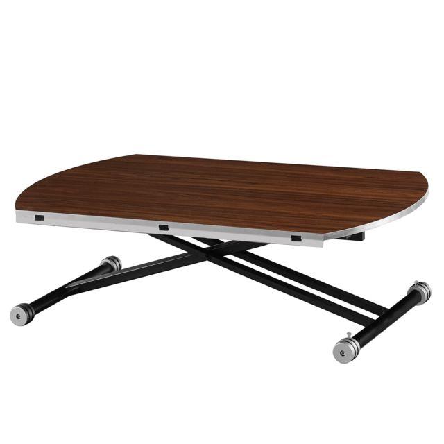Capsull Design Table relevable Jenny - Noyer