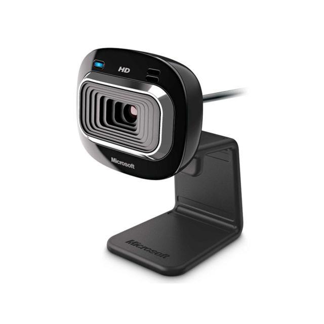 MICROSOFT Webcam haute définition - LifeCam HD-3000 Véritable vidéo haute définition 720p, et photos 4 MP interpolés. Format 16:9, pour tirer le meilleur de vos vidéos. Optimisé pour Windows Live Messenger, bouton