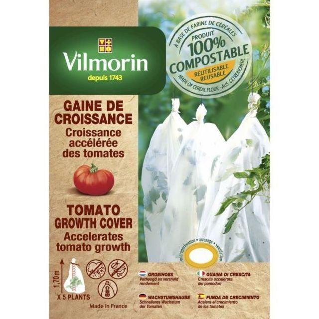 MARQUE GENERIQUE PAILLAGE - VOILE - PROTECTION CULTURE Housse de croissance tomates en farine de céréales - Epaisseur 25 µm - 0,60 x 8m
