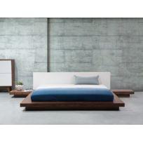 Beliani - Lit à eau - marron clair - 180x200 cm - avec système de chauffage - Zen