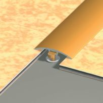 Dinac - Seuil A Fixation Invisible - Aluminium Anodise Or - Long. mm : 2 700 / Larg. mm : 30
