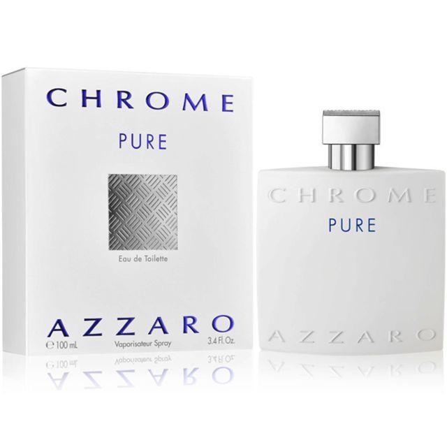 Azzaro Chrome Pure 100ml Eau De Toilette Pour Homme Pas Cher