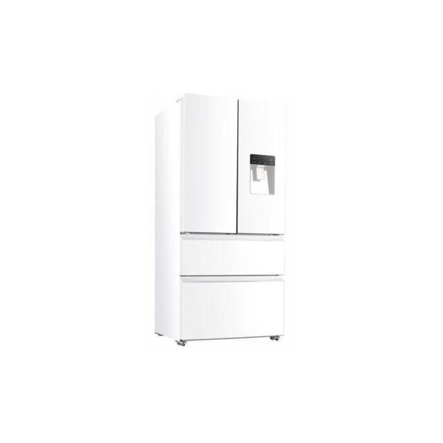 Continental Edison Ceraf536dw Refrigerateur Multi Portes-536 L 350+186 -froid Ventile-classe A +-l 83,3 X H 182 Cm-blanc