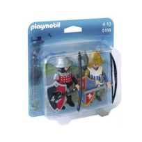 Playmobil - 5166 Duo Chevalier du Lion et Chevalier de l'Aigle 0116