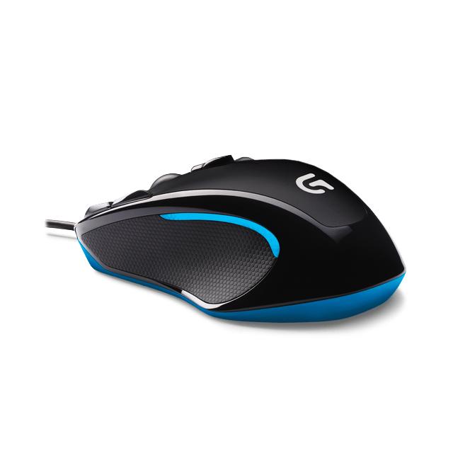 LOGITECH G300S – Noir et Bleu Laissez votre « skill » parlé sur le champ de bataille avec la G300S de Logitech. Avec son taux de rapport ultrarapide, ses 9 boutons totalement personnalisables, sa conception ergonomique ambidextre, et sa surface de glisse