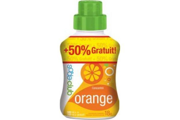 SODASTREAM Sirop ORANGE 500 ml + 50% gratuit