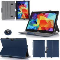 Xeptio - Samsung Galaxy Tab S 8.4 pouces Housse protection Ultra Slim Cuir Style bleu - Etui coque