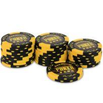 Pokeo - Rouleau 25 jetons Premium Poker Jaune