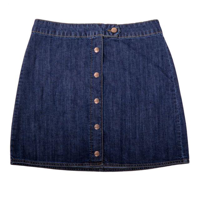 53b8d73514339d Best Mountain - Jupe en jean boutonnée femme - pas cher Achat ...