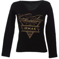 Irmak - Tee shirt manches longues Triangle vintage noir Noir 74011