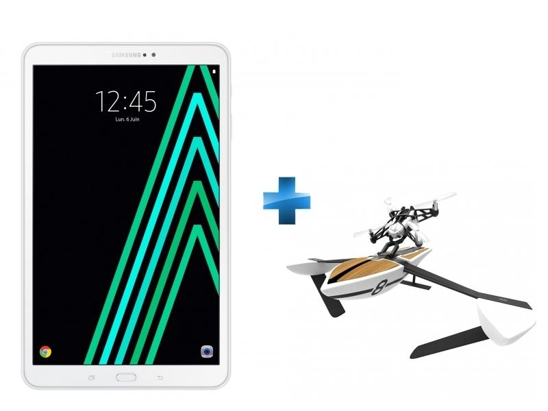 Galaxy Tab A6 - 10,1'' - 16 Go - Blanc + Minidrone hybride Parrot