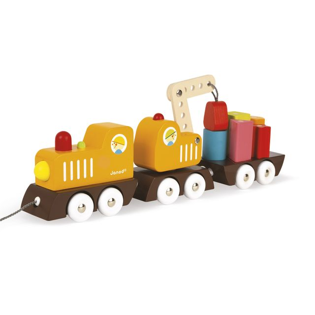 Janod Train Grue Multi Colors en bois