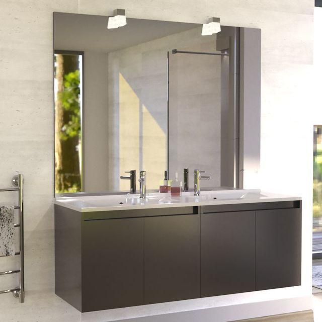 strong Creazur  strong  meuble salle de bain double vasque proline 140 a3cd1f24de52
