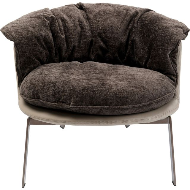 Karedesign Fauteuil Julep velours marron Kare Design