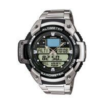 Casio - Sgw-400HD-1BVER - Montre Homme - Quartz Analogique - Cadran Gris - Bracelet Acier Argent