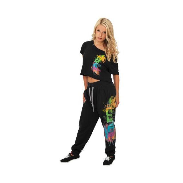 Urban Dance - Bas de jogging Noir-Multicolore Baggy Hip Hop Danse - pas  cher Achat   Vente Pantalon femme - RueDuCommerce 23206c61e22