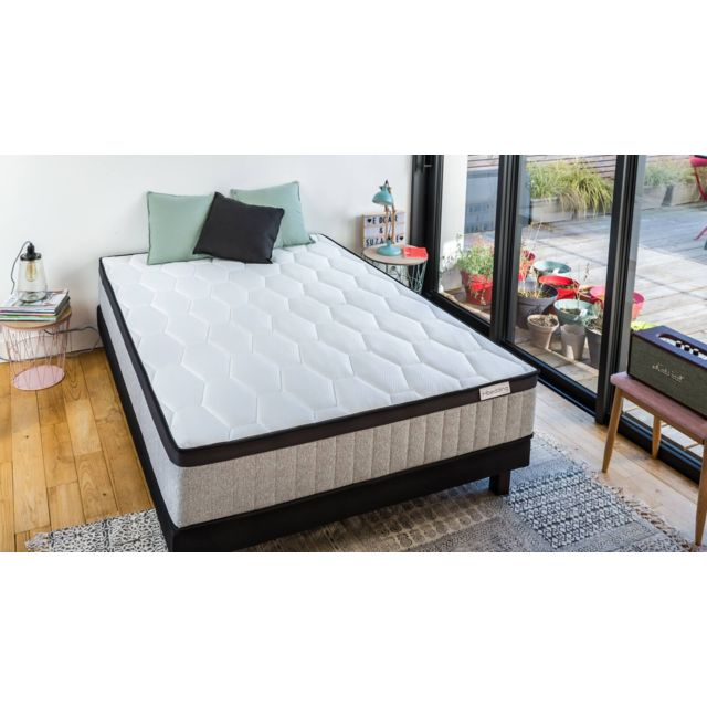 hbedding ensemble matelas ressorts ensach s sommier 140x190 spring memo royal mousse. Black Bedroom Furniture Sets. Home Design Ideas