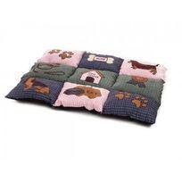 Zamibo - Coussin patchwork pour chien 80 x 55 cm