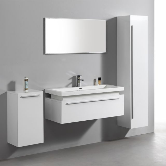 vasque pas chere gallery of ensemble complet meuble de salle de bain rio vasque miroir blanc. Black Bedroom Furniture Sets. Home Design Ideas
