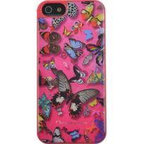 Christianlacroix - Coque Butterfly Parade de Christian Lacroix couleur Grenadine pour iPhone 5/5S