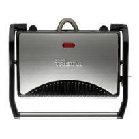 Tristar - Appareil en inox à Panini - Grill viande et poisson compact
