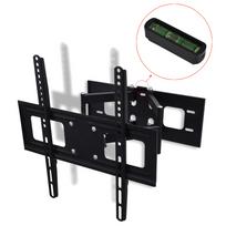 Vidaxl - Support Mural Tv Double Bras Orientable et Inclinable 3D 400x400 mm