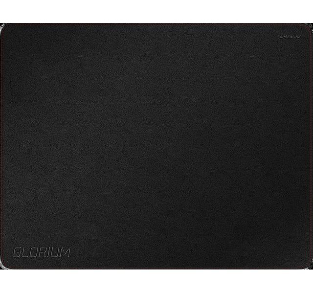 SPEEDLINK SL-620104-BK Soft Touch Gaming noir Tapis de souris de gaming en simili-cuir noir surface soft touch