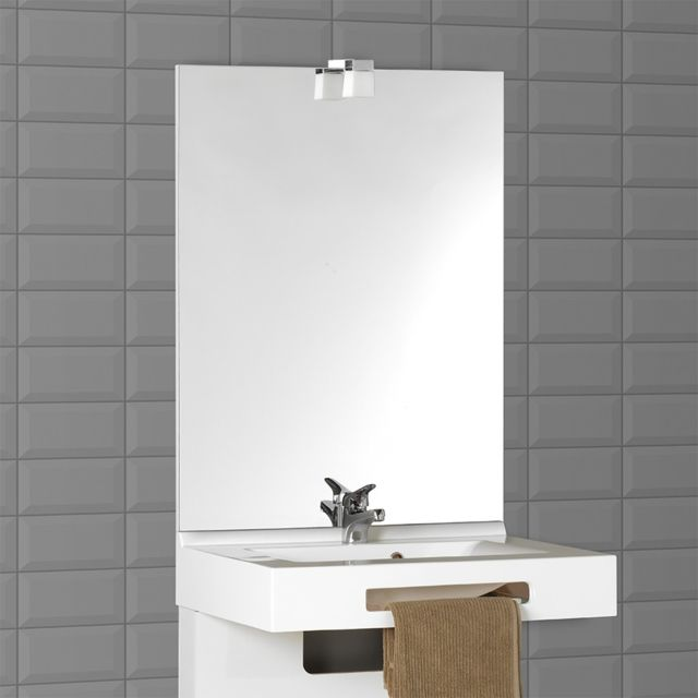 Creazur Miroir avec applique Mircoline - 90 cm + applique