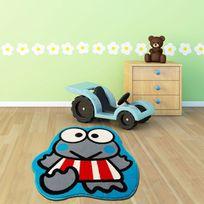 Mondialtapis - Clown Bleu chambre enfant par Mondial Tapis ' 100 x 100 cm ' - Couleur - Bleu, Taille - 100 / 100 cm