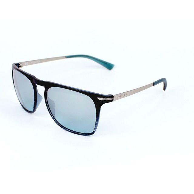 Police - Look Black 2 S1956 G32M Bleu - Argent - Lunettes de soleil  Bordeaux mat - Argent - pas cher Achat   Vente Lunettes Tendance -  RueDuCommerce 0a7fbd2ea7e2