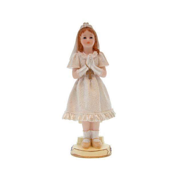 Figurine Communiant debout fille 15 cm