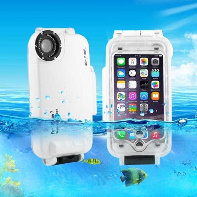 coque waterproof iphone 8 7 40m plongee etanche logement photo video prise sous marine de couverture cas blanc n2